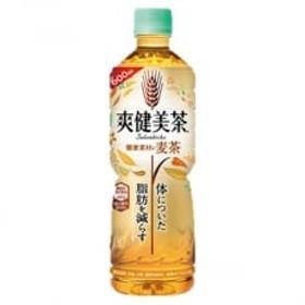 【コカ・コーラ社】爽健美茶 健康素材の麦茶600mlペット×24本
