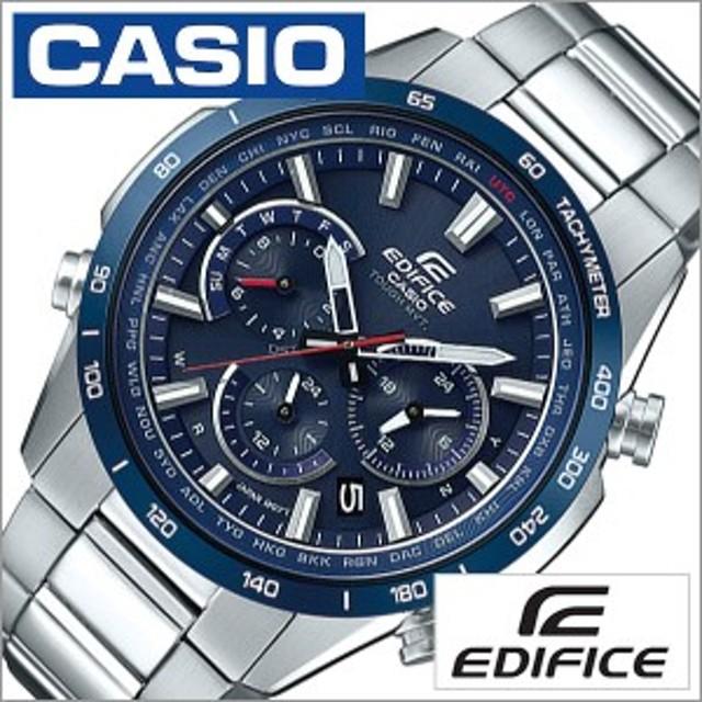 7630a875d3 カシオ腕時計 CASIO時計 CASIO 腕時計 カシオ 時計 エディフィス EDIFICE メンズ ブルー EQW-T650DB-