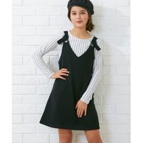 2点セット(ジャンスカ+Tシャツ)(女の子 子供服。ジュニア服) (オールインワン)