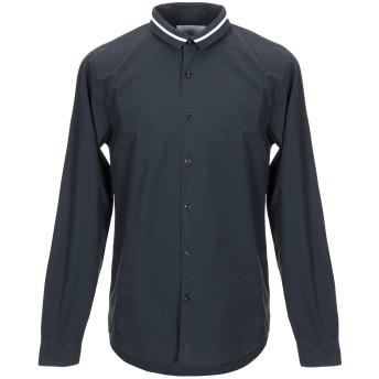 《9/20まで! 限定セール開催中》ONTOUR メンズ シャツ 鉛色 L コットン 100%