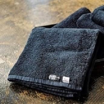 正統の黒 深黒バスタオル 艶やかな乳白ピマフェイスタオルセット