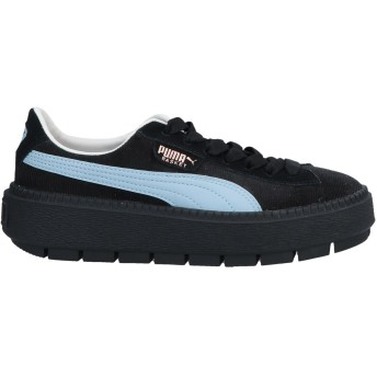 《期間限定 セール開催中》PUMA レディース スニーカー&テニスシューズ(ローカット) ブラック 4 紡績繊維 / 革 Platform Trace Corduroy Wn's