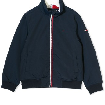 Tommy Hilfiger Junior ロゴ パッチ ジャケット - ブルー