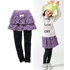 フリルスカッツ(女の子 子供服。ジュニア服) (スカート付パンツ)