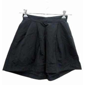 【中古】ペーパーチェスト PAPER CHEST スカート フレア ミニ 2 黒 ブラック /YI レディース