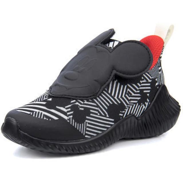 キッズ adidas(アディダス) DISNEY FORTARUN MICKY AC I(ディズニーフォルタランミッキーACI) D96916 コアブラック/オフホワイト/アクティブレッド スニーカー ファースト/ベビー