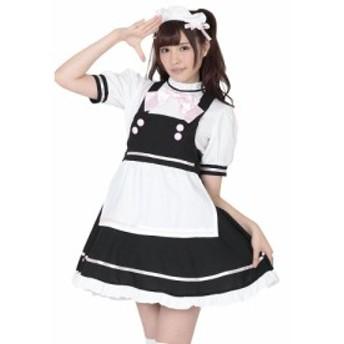 NEW『萌えカフェメイド』コスプレ衣装  パーティー・ハロウィンに!KH0022BK