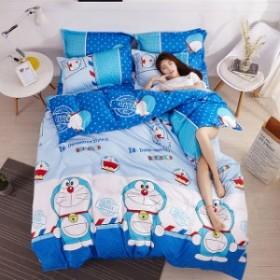 ★大人気★寝具カバー 4点セット 柔らか優しい肌触り 掛布団カバー シーツ 爽やか  速乾  清潔 ドラエモン柄