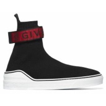 ジバンシィ スニーカー シューズ 靴 メンズ【Givenchy 4g Webbing Knitted Sneakers】Nero rosso