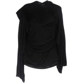 《期間限定セール開催中!》GIVENCHY レディース T シャツ ブラック 36 レーヨン 100% / 羊革(ラムスキン)