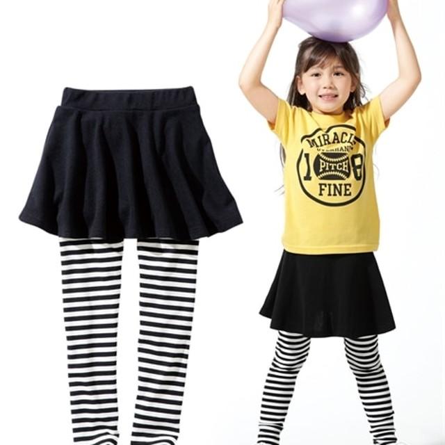 829e87d9e45f9 フレアスカッツ(女の子 子供服。ジュニア服)レギンス付スカート (スカート付