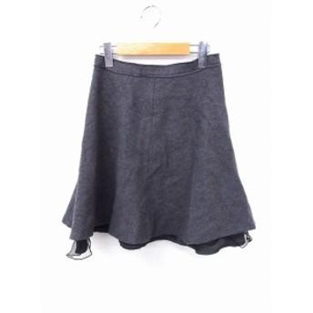 【中古】プロポーション ボディドレッシング PROPORTION BODY DRESSING スカート フレア チュール ミニ丈 ウール 3 グレー 灰