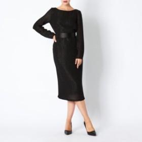 マックスマーラ レディース ワンピース ドレス40サイズ/MaxMara First Line 長袖 ボートネック ミディアム丈 ワンピース ドレス