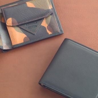 送料無料 二つ折り財布 クルーズ 黒×カモフラージュ