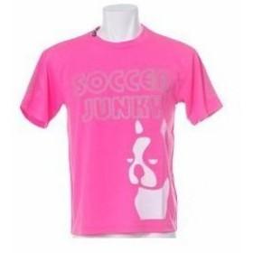 soccer junkyサッカージャンキー PANDHIANI(パンディアーニ) 半袖プラシャツ Lサイズ SJ0199 [79]蛍光ピンク