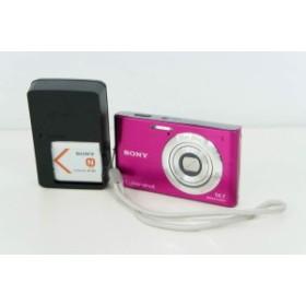 【中古】SONYソニー コンパクトデジタルカメラ Cyber-shotサイバーショット 1410万画素 DSC-W550 ピンク