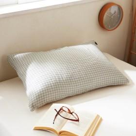 布団カバー 掛け布団カバー ふんわりダブルガーゼの掛け布団カバー単品 枕カバー単品 バニラベージュ 枕カバー