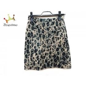 ブルマリン BLUMARINE スカート サイズ38 S レディース アイボリー×黒×ダークグリーン           スペシャル特価 20190904【人気】