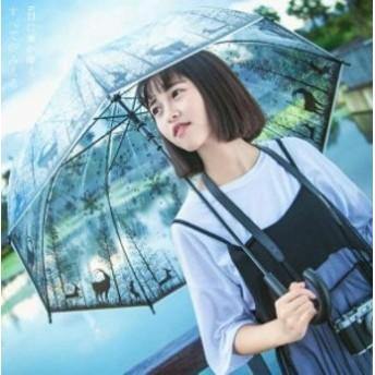 送料無料 透明ビニール傘 雨傘 手開き 日傘 傘 レディース かさ 晴雨兼用傘 コスプレ 軽量 8本骨傘 和傘 番傘 花柄 耐風 レイン雨具