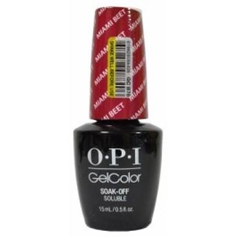 新品 送料無料●OPI gelcolor Miami Beet GC B78 15ml  オーピーアイ ジェルカラー●LED ジェルネイル ネイルカラー