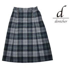 denicher/デニシェ  DS183076 日本製 チェックマリンAラインスカート  【グレー】