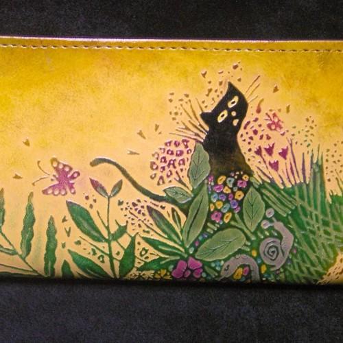 c75f978b68f6 猫のデザイン バッグ 財布等 レザークラフト ロング財布 森の仲間 catwalk oikawa 通販 LINEポイント最大1.0%GET |  LINEショッピング【公式】