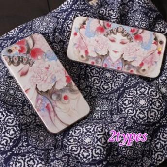iPhone8ケース iPhone8プラスカバー アイフォンケース iPhone8/8Plus/7/7Plus/6Plus/6sPlus/6/6s 中国風 花柄 携帯カバー 個性