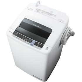 日立 NW-80C(W) ピュアホワイト 白い約束 簡易乾燥機能付洗濯機(8kg)