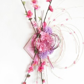 おひな飾り桃の花リース ohina-01