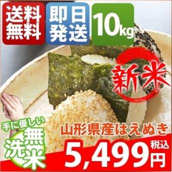 無洗米 10kg 送料無料 はえぬき 5kg×2袋 山形県産 30年産 1等米 米 10キロ お米 クーポン対象