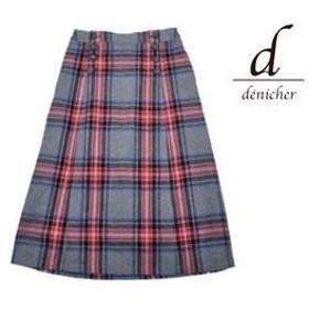 denicher/デニシェ  DS183076 日本製 チェックマリンAラインスカート  【レッド】