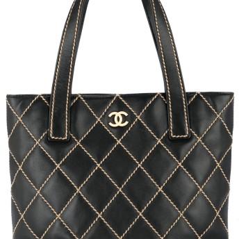 Chanel Vintage Wild Stitch ハンドバッグ - ブラック