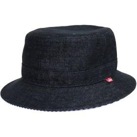ハット - MARUKAWA EDWIN ハット メンズ ハット レディース 帽子 メンズ 帽子 レディース リバーシブルハット リバーシブル ストライプ デニム黒 カジュアル ストリート アウトドア エドウィン