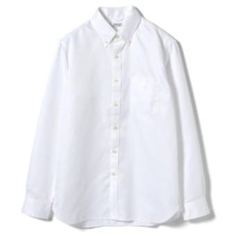 BEAMS LIGHTS / COOLMAX ボタンダウンシャツ メンズ カジュアルシャツ WHITE XL
