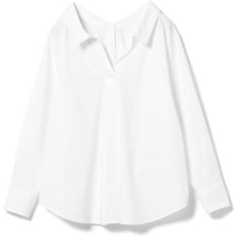 Ray BEAMS / バック ボタン スキッパーシャツ レディース カジュアルシャツ WHITE ONE SIZE