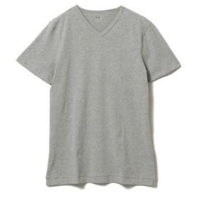 three dots / ショートスリーブ Vネックカットソー メンズ Tシャツ GRANITE S