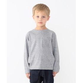 こどもビームス / 天竺 ロング スリーブ ポケット Tシャツ (ユニセックス 80~140cm) キッズ Tシャツ T.GREY 90