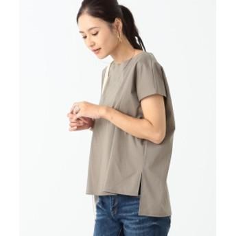 【手洗い可能】BEAMS LIGHTS / ムホウセイ ボックス Tシャツ レディース Tシャツ MOCHA GRAY ONE SIZE