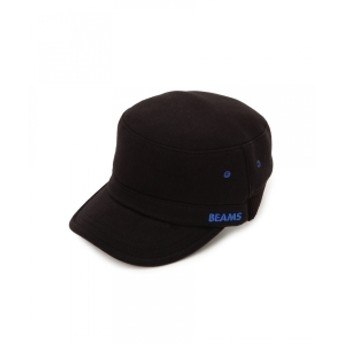 BEAMS / リブ切替 ワーク キャップ メンズ キャップ BLACK ONE SIZE