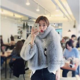 [55555SHOP]欧米2018秋新型ショート修身顕は小さいながら風薫る人工毛皮効果コート 暖かい人工ファー フェックファー ベーシック 大人気 ヴィンテージ
