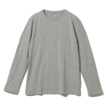 three dots / ロングスリーブ クルーネックカットソー メンズ Tシャツ GRANITE/120 M
