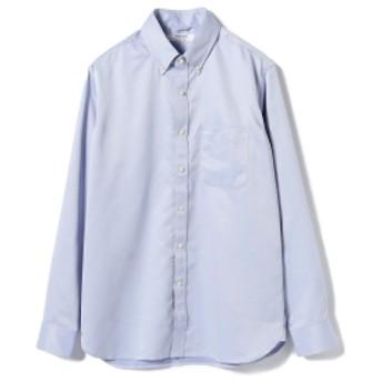 BEAMS LIGHTS / COOLMAX ボタンダウンシャツ メンズ カジュアルシャツ SAX L