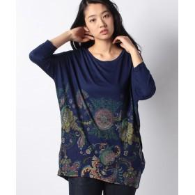 【50%OFF】 デシグアル Tシャツ3/4袖 レディース ブルー系 S 【Desigual】 【セール開催中】