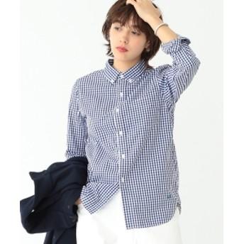 BEAMS BOY / 100/2 ギンガムチェック ボタンダウン シャツ レディース カジュアルシャツ NAVY ONE SIZE