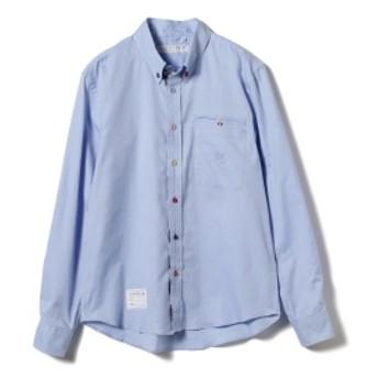山下マヌー × HARRYTOIT × BEAMS LIGHTS / 別注 マルチカラーボタンダウンシャツ メンズ カジュアルシャツ SAX S