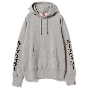 LOOPWHEELER × BEAMS JAPAN / 別注 吊り裏毛 パーカ カタカナ メンズ パーカー GREY S