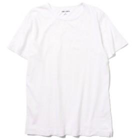 three dots / ショートスリーブ クルーネックカットソー メンズ Tシャツ WHITE/001 L