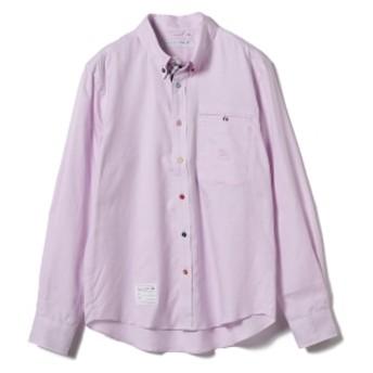 山下マヌー × HARRYTOIT × BEAMS LIGHTS / 別注 マルチカラーボタンダウンシャツ メンズ カジュアルシャツ PINK L