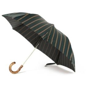 Maglia Francesco / ストライプ アンブレラ(折りたたみ) メンズ 折りたたみ傘 GREEN/BEG ONE SIZE