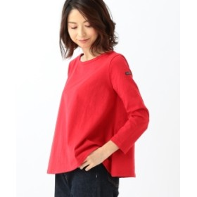 Le minor / EVASEE フレアボーダー ロングスリーブ レディース カットソー RED T1